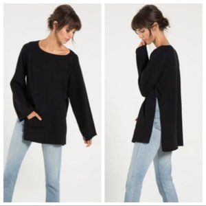 N:Philanthropy Black Robin poncho sweater oversize